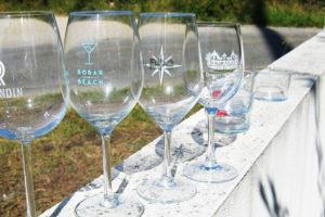 verre de vin personnalisé à bordeaux