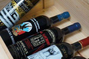 coffret de bouteilles personnalisées sérigraphie bordeaux